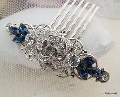 Wedding Rhinestone Hair Comb Bridal Rhinestone Hair by DivineJewel, $35.00. This is the ONE!!!