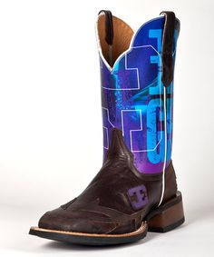 Look what I found on #zulily! Chocolate Rig On Leather Western Boot - Men by CINCH EDGE #zulilyfinds