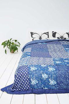 Couvre-lit Kona bleu
