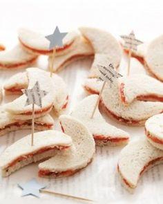 star and moon tea sandwiches