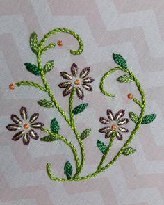 Resultado de imagem para leisha' s galaxy embroidery Hand Embroidery Dress, Hand Embroidery Videos, Hand Embroidery Stitches, Embroidery Techniques, Beaded Embroidery, Cross Stitch Embroidery, Border Embroidery Designs, Embroidery Flowers Pattern, Bordado Floral