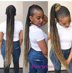 Here is Small Cornrows Braids Ideas for you. Small Cornrows Braids 42 catchy cornrow braids hairstyles ideas to try in Sm. Box Braids Hairstyles, Braided Ponytail Hairstyles, Frontal Hairstyles, Braided Hairstyles For Black Women, My Hairstyle, African Hairstyles, Girl Hairstyles, Cornrows In A Ponytail, Hairstyle Ideas