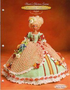 209.+Barbie+fashion+doll+dress-crochet+pattern+in+pdf