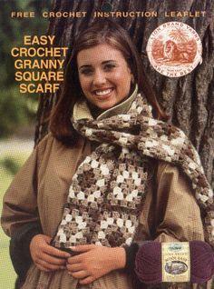 Granny Square Scarf (Crochet) - Lion Brand Yarn