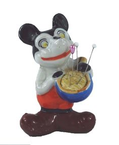 Vintage Disney Mickey Mouse 1922  Figurine Pin Cushion Made in Japan