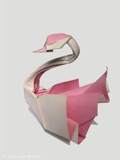 Origami Swan by HTQuyet.deviantart.com on @deviantART:
