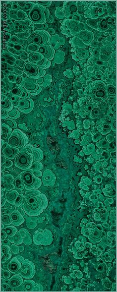 Emerald Gemstones ~~Malachite ~ close up by Bill Atkinson Photography~~ What do you think of the colour? Minerals And Gemstones, Crystals Minerals, Rocks And Minerals, Stones And Crystals, Gem Stones, Patterns In Nature, Textures Patterns, Motifs Organiques, Doodle Inspiration