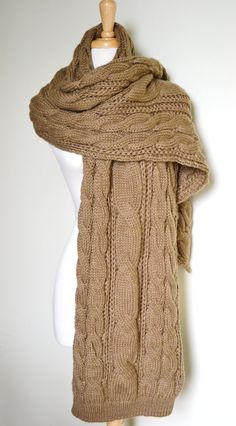 Chunky knitted scarf...would take me forever to knit...but I like it