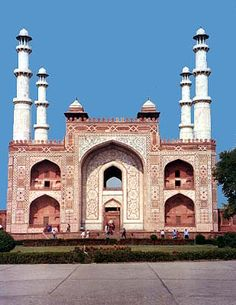 Tomb of Akbar, Sikandra, Agra, Uttar Pradesh. South Gate of Akbar's mausoleum.