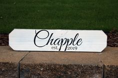 Make it feel like HOME with a personalized custom-painted wood sign. Painted Wood Signs, Custom Wood Signs, Last Name Signs, Custom Paint, Painting On Wood, Wood Art, House Warming, Personalized Gifts, Sweet Home
