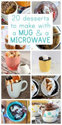Quick desserts you can make in the microwave (perfect for when you need a fast treat!)