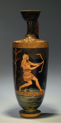 ATTIC RED-FIGURE LEKYTHOS. 460г. д.н.э. http://www.pinterest.com/contencioso/greek-vases/