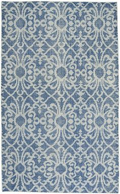Vintage Courtyard Blue Rectangle Rug