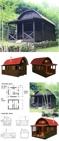 On Pin-Up Houses, you can purchase plans for tiny houses, cabins, cottages, playhouses, and sheds. These plans are designed to be affordable; you can purchase a complete step-by-step DIY guide, materials list, tools list, and set of construction progress diagrams for around $300 or less for most of them. You should also be able to actually complete the project for around $10,000 in most cases—some of these can even be built for a couple thousand dollars or less.