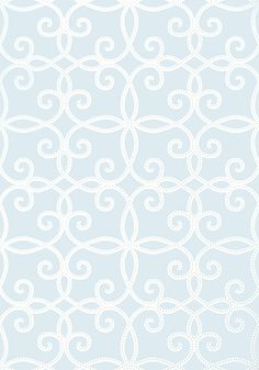 Kendall #wallpaper in #blue from the Geometric Resource 2 collection. #Thibaut