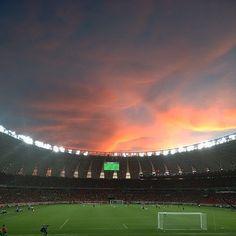 inside the home of Internacional, in Porto Alegre.