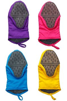 Keep em covered!  Silicone oven gloves to keep your hands safe.