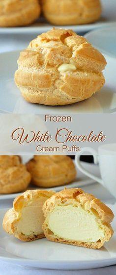 Note: White chocolate cream filling (Frozen White Chocolate Cream Puffs)