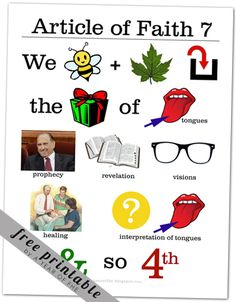 Article of Faith 7 memorization poster | A Year of FHE
