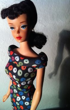 Vintage Barbie in Apple Print Sheath