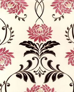 Flock and Baroque wallpaper design by Laurence Llewellyn Bowen Wallpaper Direct, Tv Presenters, Showcase Design, Home Wall Decor, Flocking, Soft Furnishings, Designer Wallpaper, Baroque, Home Accessories