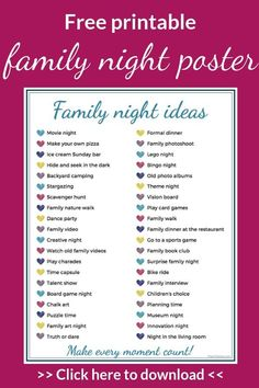 The ultimate list of the best ideas for a family name .-Die ultimative Liste der besten Ideen für einen Familienabend- The ultimate list of the best ideas for family home evening evening - Kids And Parenting, Parenting Hacks, Parenting Classes, Parenting Plan, Parenting Styles, Parenting Quotes, Peaceful Parenting, Natural Parenting, Bonding Activities
