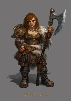 f Dwarf Barbarian female Battle Axe wilderness mountains Conifer forest Dungeons And Dragons Characters, Dnd Characters, Fantasy Characters, Female Characters, Fantasy Character Design, Character Inspiration, Character Art, Writing Inspiration, Character Ideas