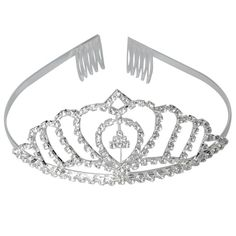 Yoshioe Water-drop Shape Rhinestone Crown Hair Clip/Headband for Bride Cosplay Party Celebration -- See this great product.