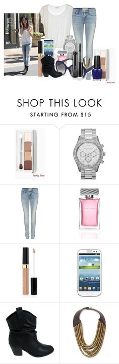"""miranda cosgrove"" by dgia ❤ liked on Polyvore featuring Clinique, MICHAEL Michael Kors, Marc by Marc Jacobs, David Yurman, Elizabeth Arden, Samsung, Hoss Intropia and OPI"