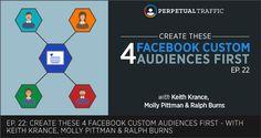 Episode 22: Create these 4 #Facebook Custom Audiences First -  #facebookads