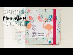 Mini álbum de scrapbooking video TUTORIAL (libreta para regalo)