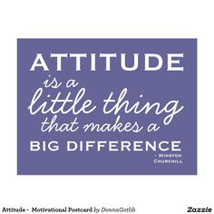Attitude -  Motivational Postcard