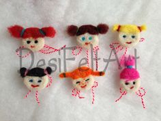 Needle felted toy brooch