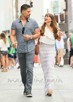 Sofia Vergara y Joe Manganiello felices por New York