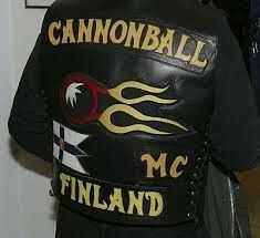 Cannonball MC Finland Biker Clubs, Motorcycle Clubs, Motorcycle Jacket, Hells Angels, Cool Patches, Color Club, Cut And Color, Detroit, Hip Hop