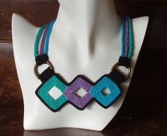 Geometric necklace by iceice on Etsy, $40.00