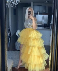 Oyemwen Tiered High Low Tulle Maxi Tutu Skirt Yellow (Top and Skirt Set) Style Outfits, Dance Outfits, Skirt Outfits, Fashion Outfits, Emo Outfits, Tutu Skirt Women, Tulle Skirt Dress, Tulle Skirts, Tulle Tutu