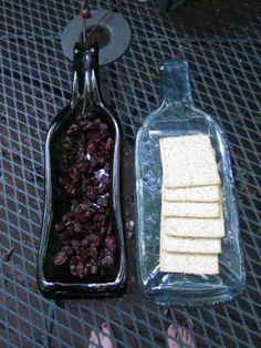 Creations by Bonnybee: PROJECT: Slumping Wine Bottles