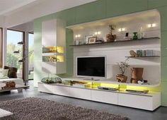 Felino wall storage unit with shelving in white matt lacquer with white matt back