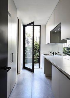 Home Design Inspiration Kitchen Open Concept 21 Ideas For 2019 Laundry Doors, Laundry Chute, Laundry In Bathroom, Small Laundry, Laundry Closet, Laundry Tips, Laundry Cupboard, Hidden Laundry, Laundry Cabinets