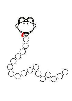 Preschool Do A Dot Printables - Kindergarten Math Worksheets, Preschool Curriculum, Teaching Kindergarten, Preschool Learning, Worksheets For Kids, Preschool Activities, Teaching Kids, Snake Crafts, Do A Dot
