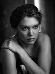 Lea Seydoux by Peter Lindbergh for Interview Magazine September 2014 Peter Lindbergh, Black And White Portraits, Black And White Photography, Lea Seydoux Adele, Portrait Studio, Interview, Photographer Portfolio, French Beauty, French Actress