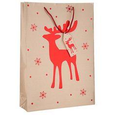 Extra Large Craft Reindeer Gift Bag , give your gifts in the gorgeous patterned gift bag! Xmas, Christmas, Reindeer, Crafts, Manualidades, Navidad, Navidad, Noel, Noel
