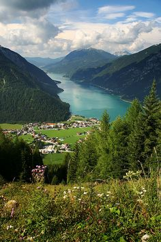 Been here & it is beautiful! Pertisau, Lake Achensee, from the Karwendel lift,Tyrol, Austria.