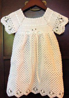 Image detail for -Crochet Baby Bonnet Booties Christening Gown Dress Set - Christening ...