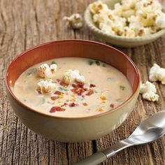 Tre Stelle® Romano Cheese Soup with Cheesy Popcorn