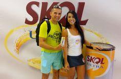 Degustação da Skol Ultra durante o evento Pedal nas Alturas, em Fortaleza.