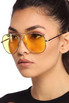 Silver Frame Aviator Sunglasses    WindsorCloud