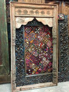 Antique Arch Rustic Floral Carved Verandah Jharokha Old Vintage Architectural18c