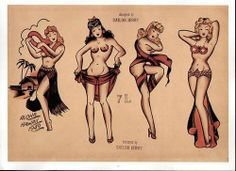 When you track down the origins of the American Traditional style of tattooing the trail will lead directly back to Collins and his Honolulu shop #InkedMagazine #flash #pinup #vintage #art #SailorJerry